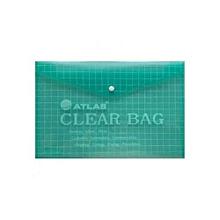 AS-F10003 - Atlas Clear Document Bag - Green