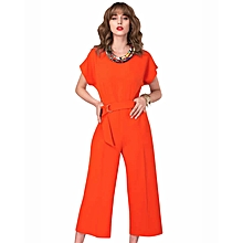 Closet Orange Kimono Cropped Leg Jumpsuit