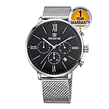Silver Crystal Chronograph Women's Watch