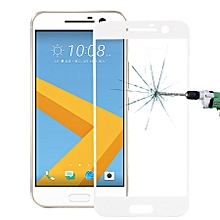 For HTC M10 0.26mm 9H Surface Hardness Explosion-proof Silk-screen Tempered Glass Screen Film (White)