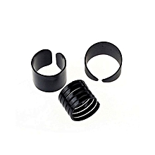 bluerdream-New Womens Trendy Punk Cool  Metal 3Pcs Simple Knuckle Rings Set-Black