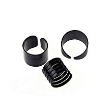 bluerdream-New Womens Trendy Punk Cool  Metal 3Pcs Simple Knuckle Rings Set-Black