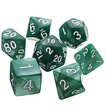 7pcs/set TRPG Games Dungeons & Dragons Opaque D4-D20 Multi Sides Dice Pop