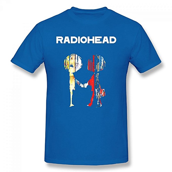 d691acfa8ed0 Generic Radiohead Men's Cotton Short Sleeve Print T-shirt Blue ...