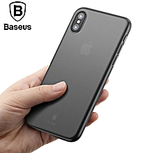 Baseus For iPhone X 10 Ultra 0.4mm Thin Slim Cover Luxury Phone Bag Cases iPhoneX Capinhas Protective Shell Back Cover Coque Funda (Grey) FCJMALL