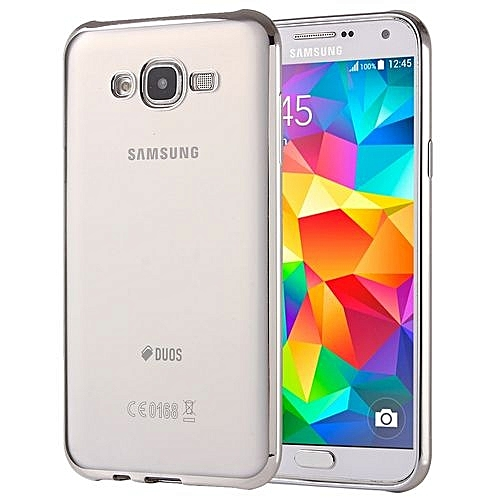 the best attitude 2ea28 c9239 Electroplating Soft TPU Protective Cover Case For Galaxy Grand Prime / G530  (Silver)