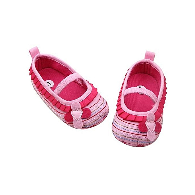 Anniversary sales buy bluelans toddler baby girl flower shoes crib toddler baby girl flower shoes crib prewalker 0 18 months babyshoes pink 11cm mightylinksfo