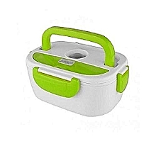 Electric Lunch Box 1.05 Litres - White & Green.