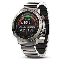 Garmin Fenix Chronos Smart Sports Watch GPS Titanium with Brushed Titanium Hybrid Watch Band