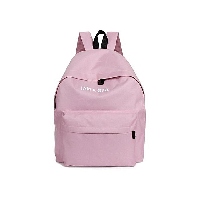 OlivarenUnisex Boys Girls Canvas Rucksack Backpack School Book Shoulder Bag  PKPink 0e33cddc813d5