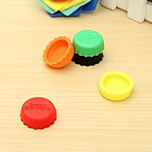 New Hot 6pcs Candy Colors Keep Bear Fresh Wine Stopper Silicone Wine Bottle Cover Beer Wine Bottle Cap Kitchen Gadgets