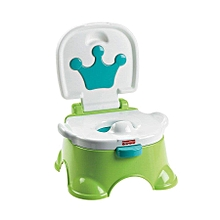 Royal Stepstool Potty with royal tunes  - Green .