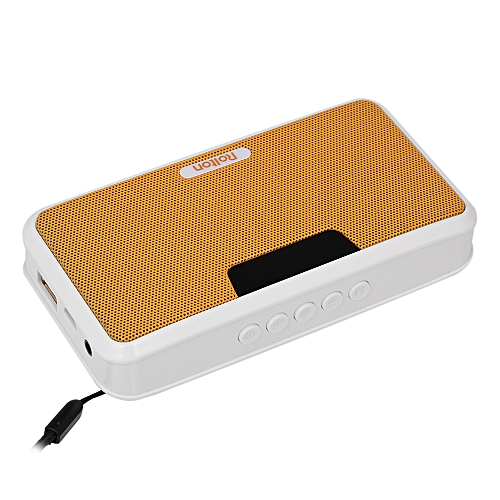 Rolton E300 Wireless Bluetooth Speaker HiFi Stereo Music Player Portable  Digital FM Radio Emergency Power Bank w/ LED Display Mic Support Hands-free