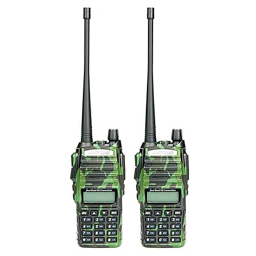 2PCSUV-82 walkie talkie cb radio UV82 portable two way radio FM radio  transceiver long range dual bandUV 82 ObeyQ