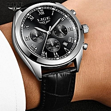 Reloje 2018 LIGE Men Watch Male Leather Automatic Date Quartz Watches Mens Luxury Brand Waterproof Clock Relogio Masculino 9852
