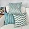 Africanmall store 6PC/Set Home Decorative Pillowcase Cotton Linen Sofa Cushion Throw Pillow Cover-Green