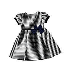 Cute Toddler Infant Baby Kids Girls Clothes Stripe Short Sleeve Bowknot Dresses