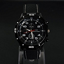 The Explosion  Mens Fashion Luxury Waterproof Stainless Steel Silicone Band Sport Watch Cool Quartz Wrist Analog Watch Business Wristwatch Watches Gifts