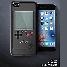 Black Mobile Phone Case Game Console Retro Silicone Dustproof Tetris Protector Protective Shell Case Accessories