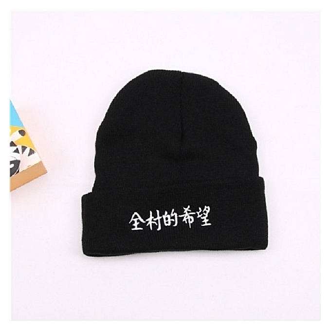 1The hope black of whole villagesesHan Ban Qiu winter hat student the tide  card knitting wool 05cba92d5fe