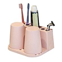 Toothbrush holder gargling cup set pink