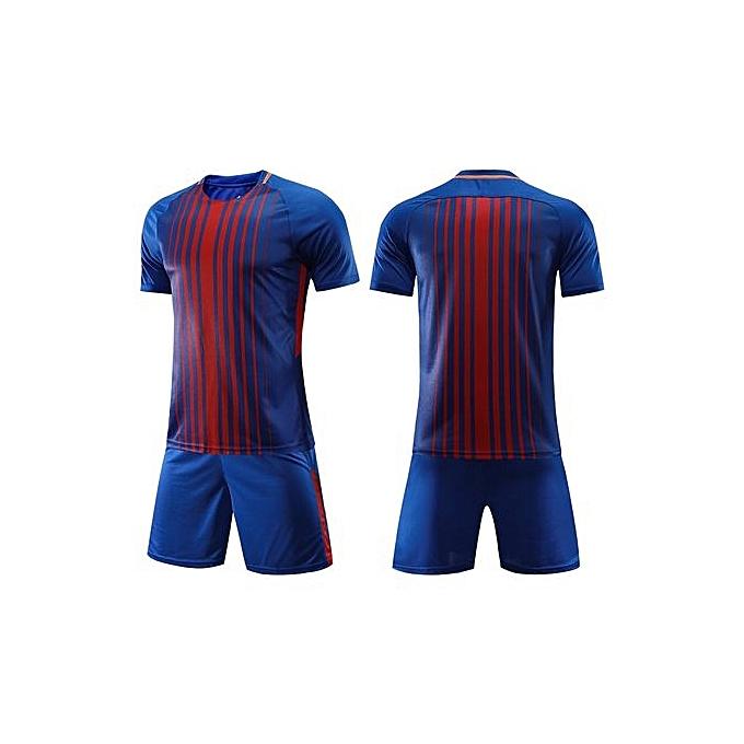224d5cb3f Customized Men s World Cup Football Soccer Team Training Sports Jersey  Set-Blue Strip ...