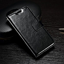 "For LG [K4 2016] Case, Slim Holster Soft Flip Leather Cover With Card Slot Stand Function For 4.5"" LG [K4 2016], Black"