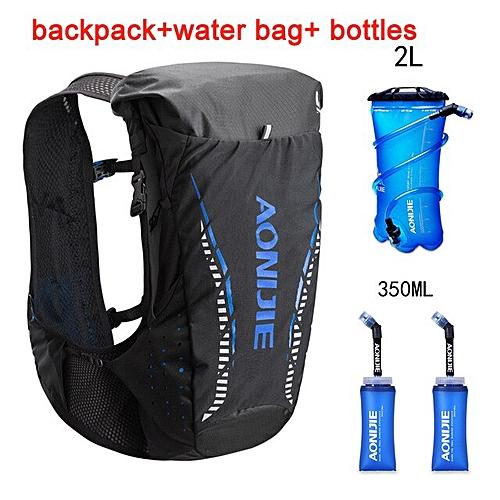 AONIJIE C943 18L Outdoor Lightweight Hydration Backpack Rucksack Bag Vest for 2L Water Bladder Hiking Running Marathon Race(blue set 1)