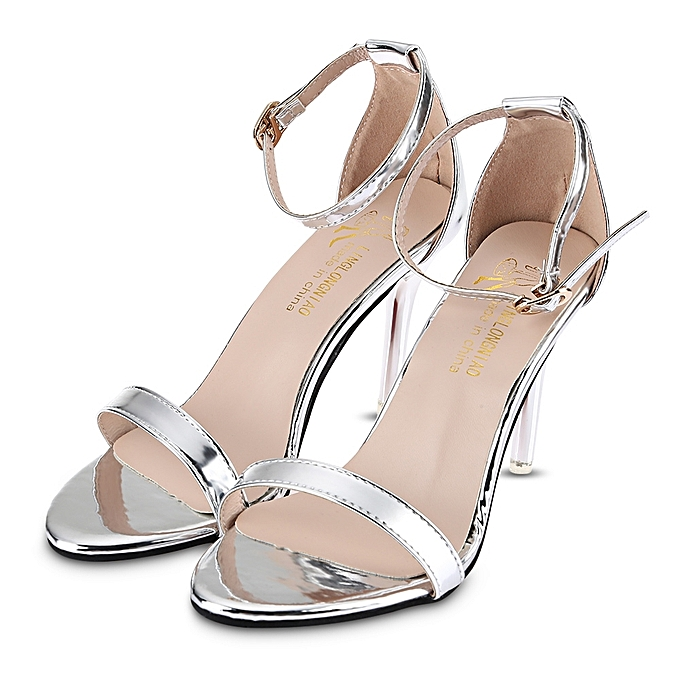 3d93753a30f Fashion Sexy Solid Color Shiny Ladies Thin High Heel Sandals ...