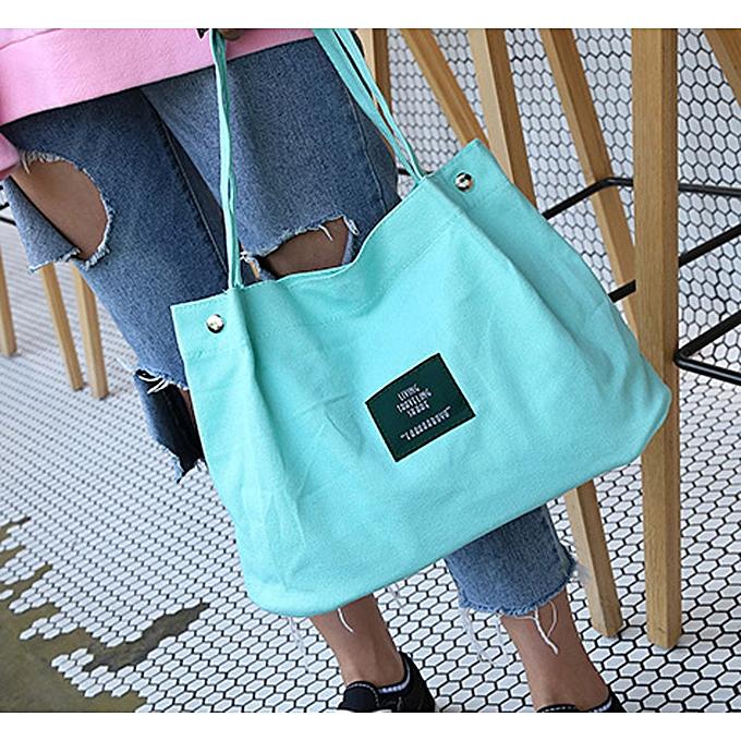 f97a760a59 Girls Women Retro Female Simple Letter Canvas Bag Crossbody Shoulder Handbag