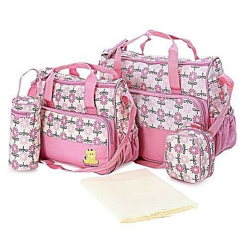 d27fec7b Generic 5 Piece High Quality Affordable Diaper/ baby bag - Pink ...