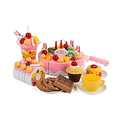 Buy Generic 75pcs Kitchen Cutting Toy Birthday Cake Pretend Play Toy