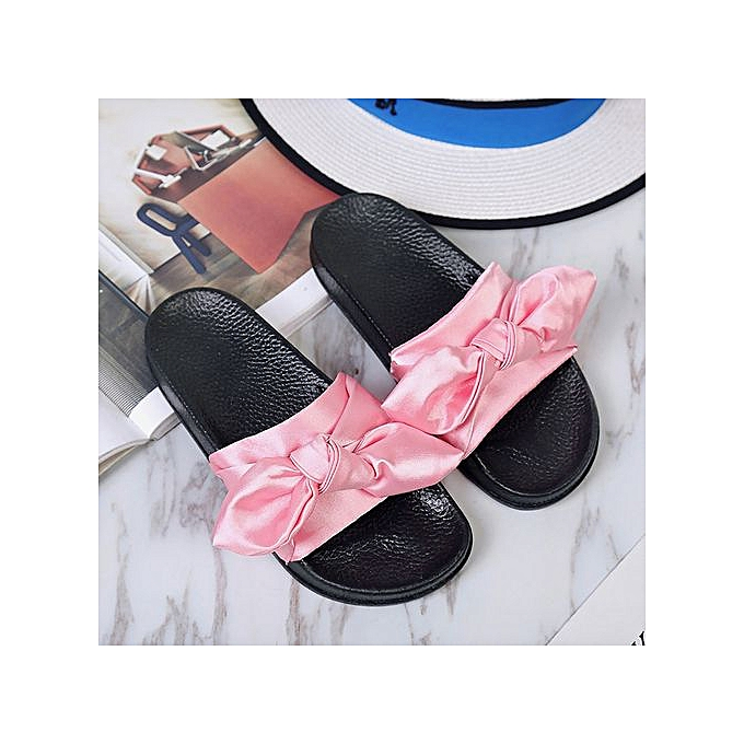 2355658f6a0 ... Jiahsyc Store Summer Women Bow Wedge Sandals Beach Shoes Flip Flops  Platform Slippers PK 36-