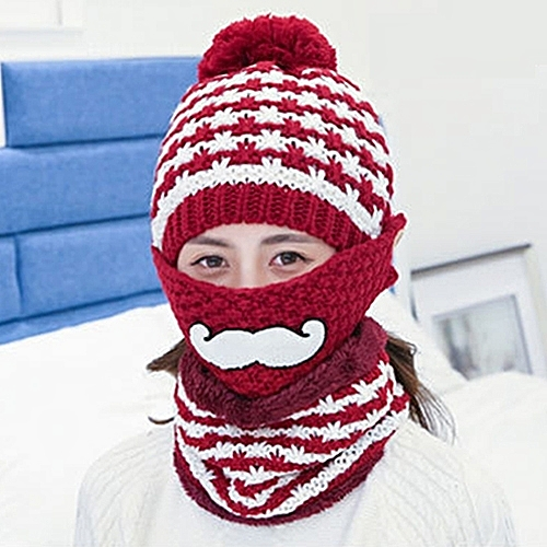 Buy Generic Winter Beard Pattern Mask Face Protection Scarf