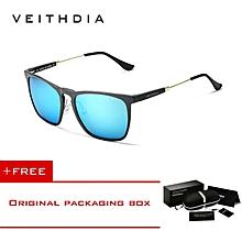 bc8d7206f29 VEITHDIA Mens Square Retro Aluminum Sunglasses Polarized Vintage Eyewear  Accessories Sun Glasses Men Women 6368