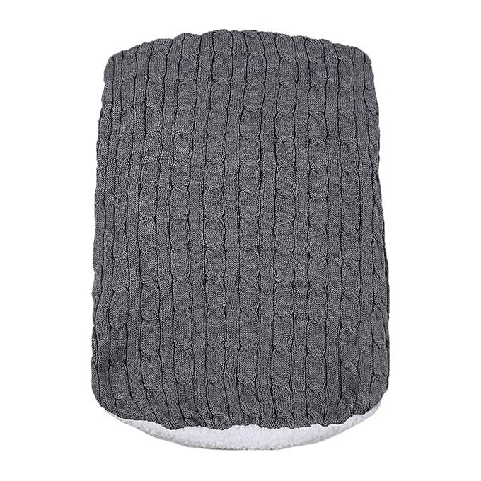 c8fa65755 Generic Baby Knitted Blanket Swaddle Sleeping Bag Kids Toddler Sleep ...