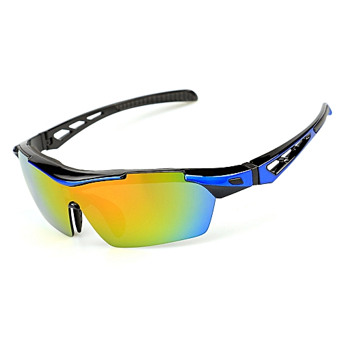 f104fa760ac Generic Polarized Cycling Sunglasses Bike Bicycle UV400 Goggles Sports  Driving Motorcycling Fishing Skating Traveling Eyewear Glasses with 5  Interchangeable ...