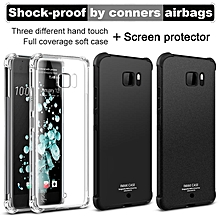 Shock-proof Conner Airbag Protection TPU Back Cover for HTC U Ultra / Ocean Note Case Matte Cover for HTC U Ultra