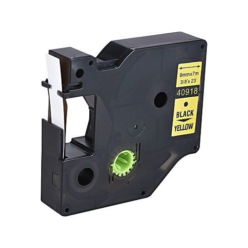 Label Tape Black on Yellow Laminated Tape Compatible for Dymo Label Printer  9mm * 7m