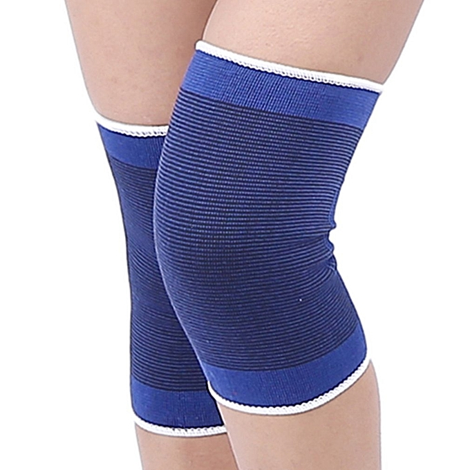 863c82b4c5fd99 Allwin Outdoor sports knitted blue knee pads youth basketball knee ...