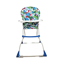 Blue baby feeding/ high chair - Fold-away Baby High Chair .