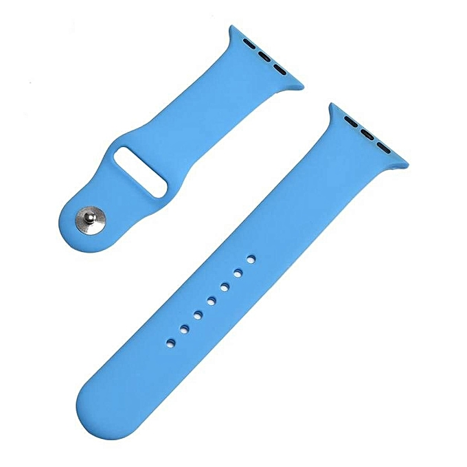 38mm S/M 1:1 Size Strap Silicone Bands Rubber Watchband For Apple Watch