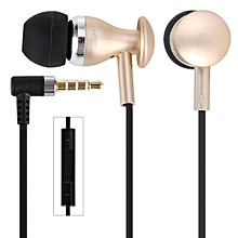 MJ9600 Professional In Ear Headset Perfect Fit Precise Sound Earphones With MIC And Burn-in Software CD(CHAMPAGNE)