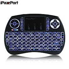 Wireless Mini Keyboard Backlight Function With Touchpad - Black