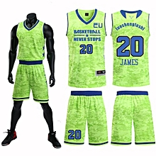 Team And Number Customized Students Men's Basketball Sport Jersey-Green(JL-824)