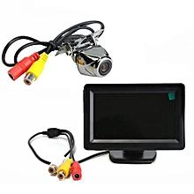 "Metal Reversing Parking Camera Sensor 170° + 4.3"" LCD Monitor Car Rear View Kit"