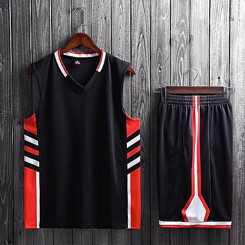 f9a5e5972 Longo Brand Customize Name Logo Men's Basketball Team Training Top Sports Jersey  Set-Black
