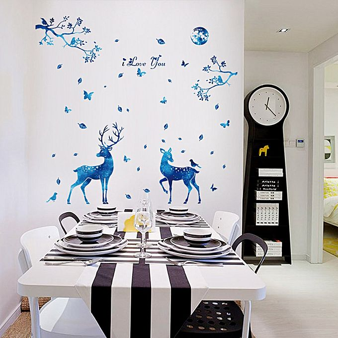 Diy Silhouettes Decoration Decal Stickers Bedroom Living Room Walls Home Decor Multicolor