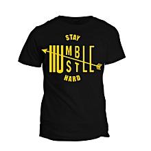 Black Stay Humble T-shirt  Design
