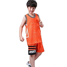 Best Sale Children Boy And Girl's Or Adults' Brand Customized Wholesale Basketball Team Training Sports Jersey Set-Orange